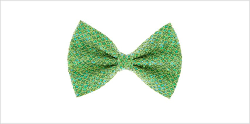 Go to Product: Mermaid Shine Hair Bow Clip - Lime Green from Claires