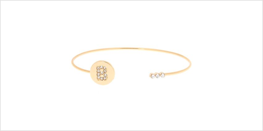 Go to Product: Gold Initial Cuff Bracelet - B from Claires