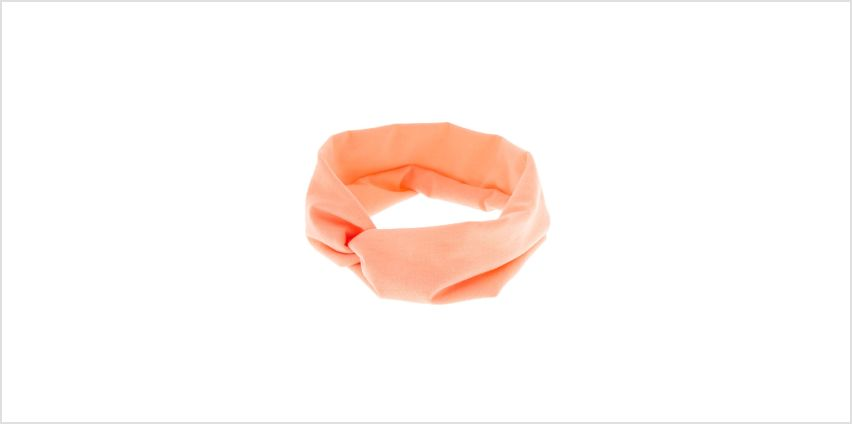 Go to Product: Wide Jersey Twisted Headwrap - Coral from Claires