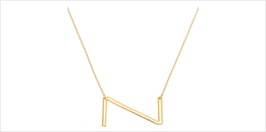 Go to Product: Oversized Initial Pendant Necklace - Z from Claires