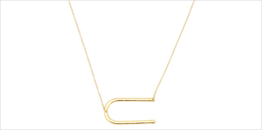 Go to Product: Oversized Initial Pendant Necklace - U from Claires