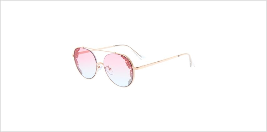 Go to Product: Round Filigree Aviator Sunglasses - Gold from Claires