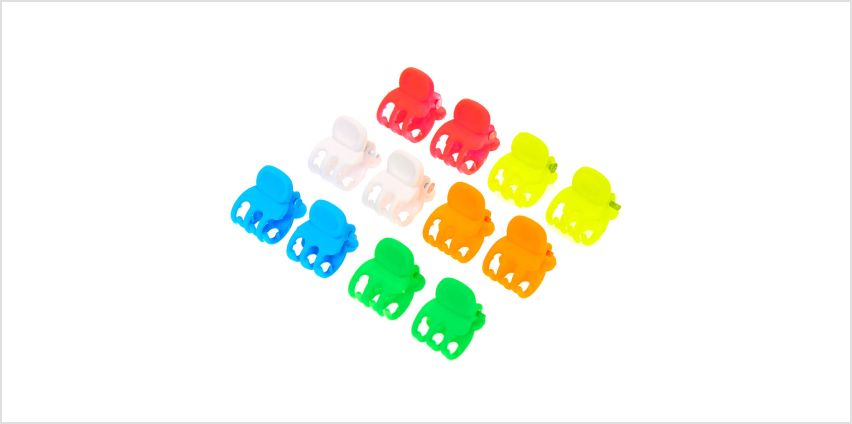 Go to Product: Matte Neon Rainbow Mini Hair Claws - 12 Pack from Claires