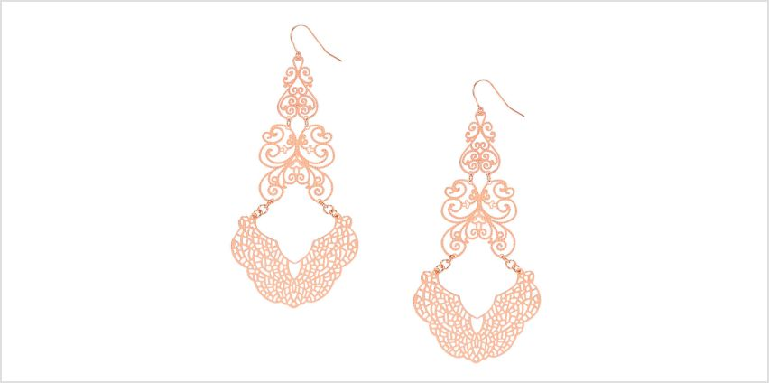 Go to Product: Rose Gold Filigree Drop Earrings from Claires