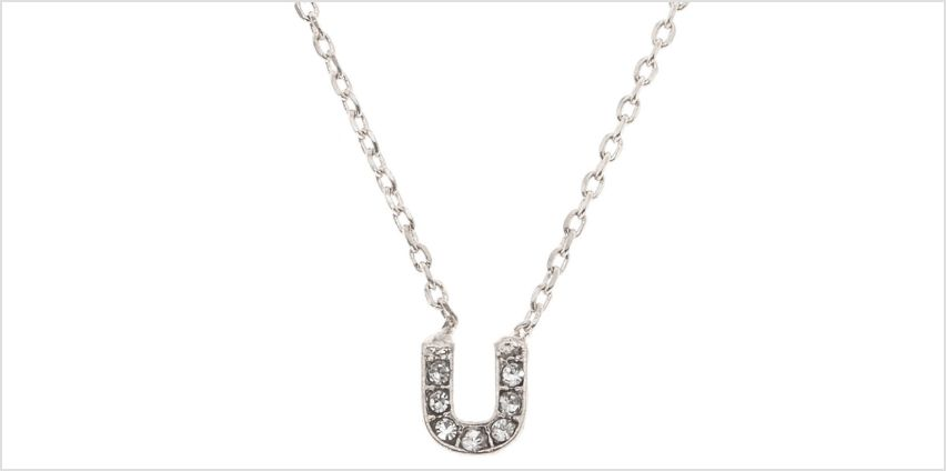 Go to Product: Silver Studded U Initial Necklace from Claires
