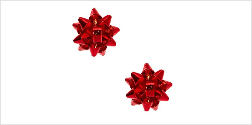 Go to Product: Christmas Bow Clip On Earrings - Red from Claires