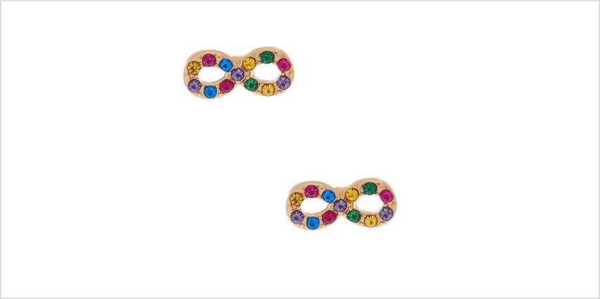 Go to Product: Gold Rainbow Crystal Infinity Stud Earrings from Claires