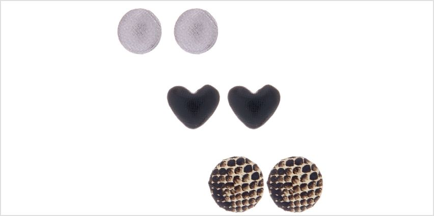 Go to Product: Snake Print Button Stud Earrings - 3 Pack from Claires