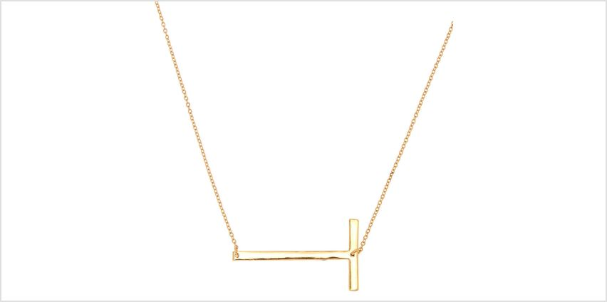 Go to Product: Oversized Initial Pendant Necklace - T from Claires