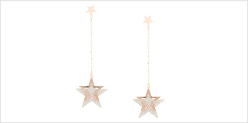 Go to Product: Rose Gold Sparkly Star Drop Earrings from Claires