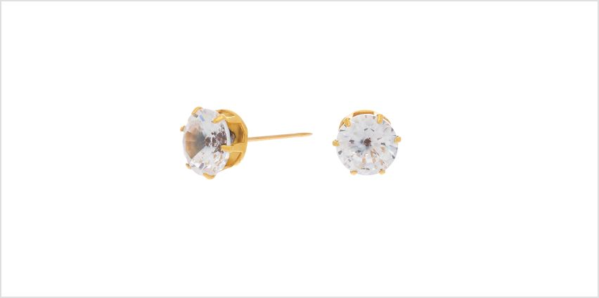 Go to Product: Gold Titanium Cubic Zirconia 7MM Round Stud Earrings from Claires