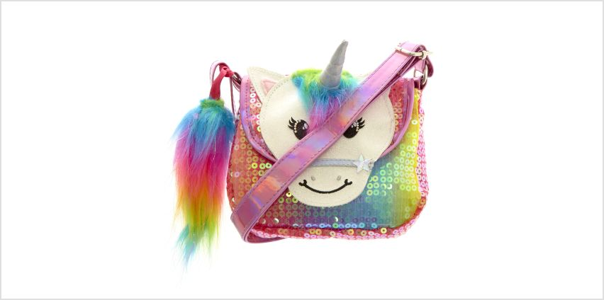Go to Product: Claire's Club Starbright the Unicorn Rainbow Unicorn Sequin Purse from Claires