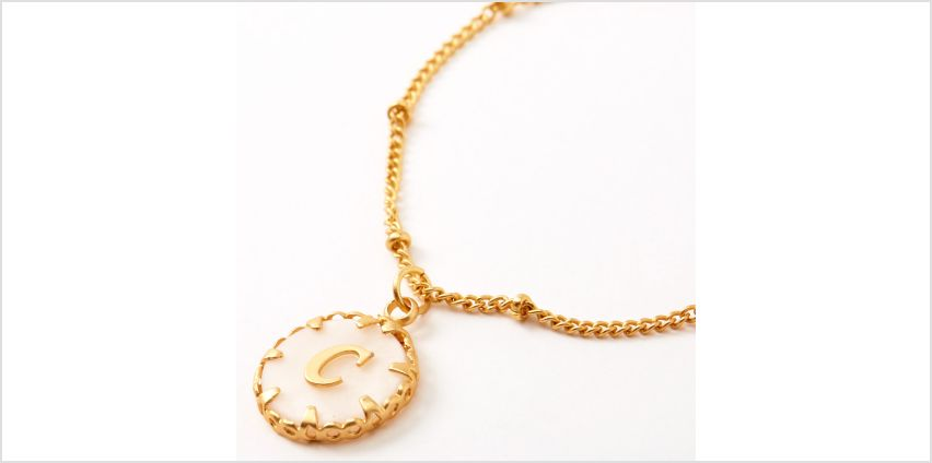 Go to Product: Gold Shell Initial Pendant Necklace - C from Claires