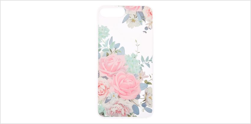 Go to Product: Glitter Rose Phone Case - Fits iPhone 6/7/8 Plus from Claires
