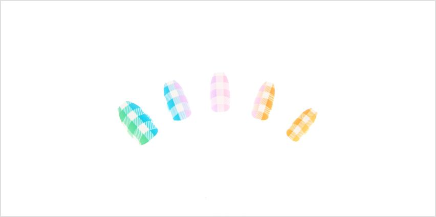 Go to Product: Pastel Plaid Faux Nail Set - 24 Pack from Claires