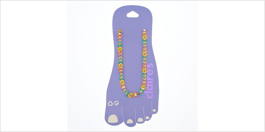 Go to Product: Rainbow Chevron Chain Anklet from Claires