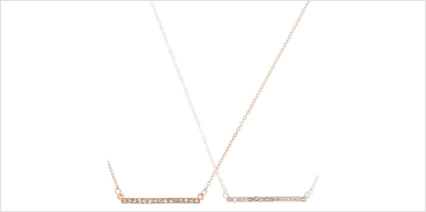 Go to Product: Mixed Metal Embellished Bar Pendant Necklaces - 2 Pack from Claires