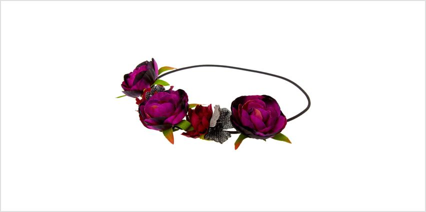 Go to Product: Dark Flower Crown Headwrap - Purple from Claires