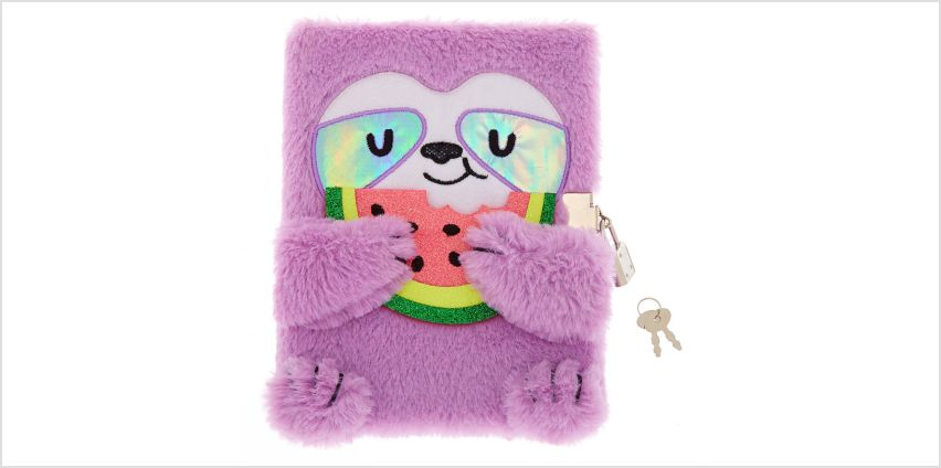 Go to Product: Sophie The Sloth Lock Soft Notebook - Purple from Claires