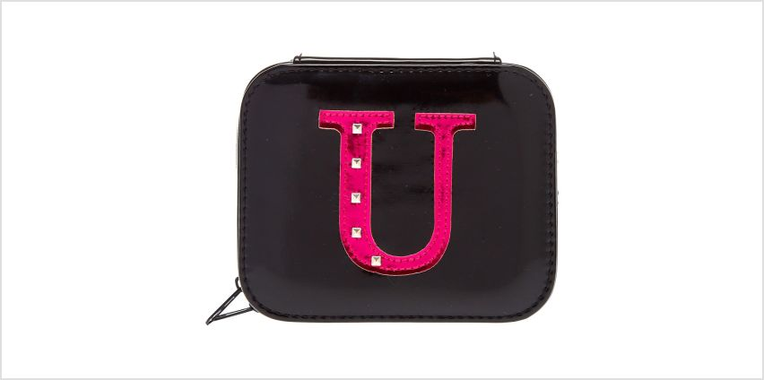 """Go to Product: Metallic Pink """"U"""" Initial Jewellery Case from Claires"""