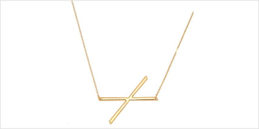 Go to Product: Oversized Initial Pendant Necklace - X from Claires