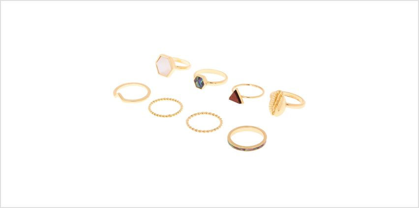 Go to Product: Gold Natural Elements Rings - 8 Pack from Claires