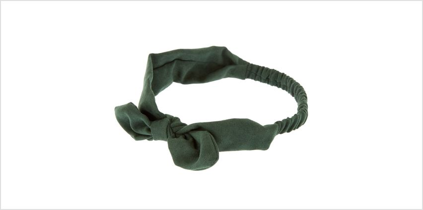 Go to Product: Suede Knotted Bow Headwrap - Hunter Green from Claires