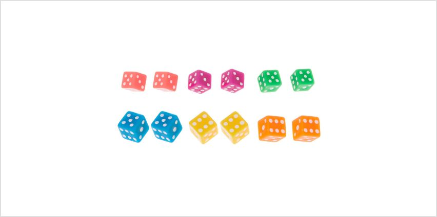 Go to Product: Neon Dice Stud Earrings - 6 Pack from Claires