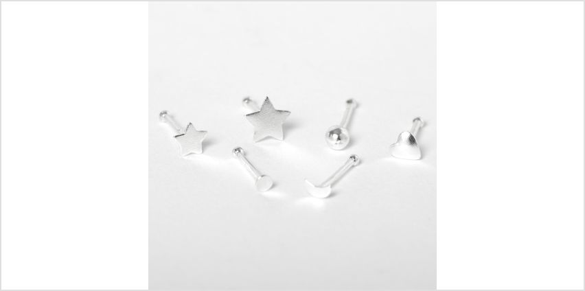 Go to Product: Sterling Silver 22G Shapes Nose Studs - 6 Pack from Claires