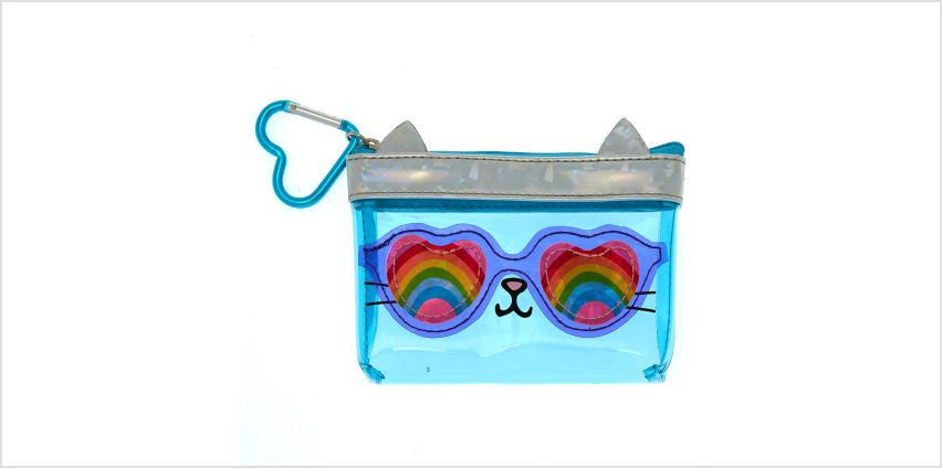 Go to Product: Cam the Cat Rainbow Zipper Purse - Blue from Claires