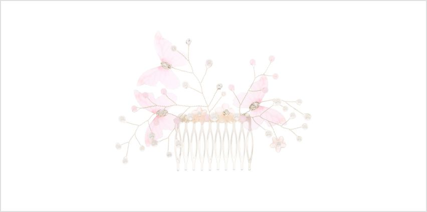 Go to Product: Butterfly Pearl Hair Comb - Pink from Claires