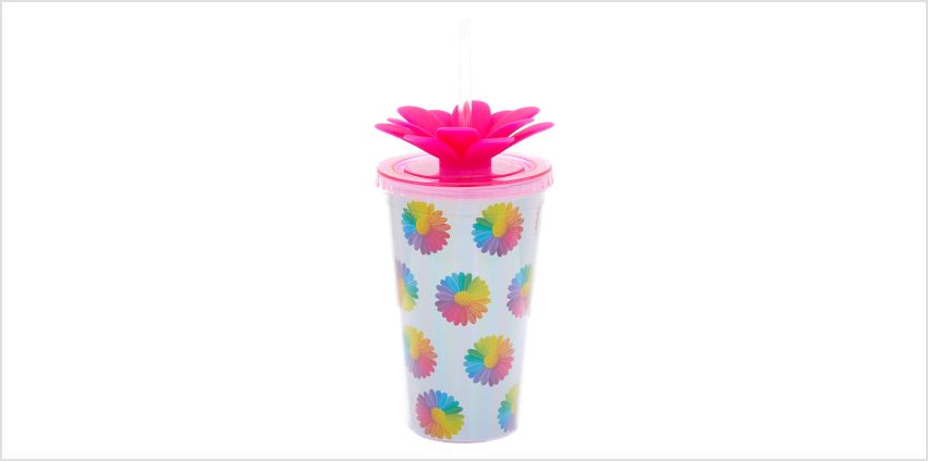 Go to Product: Rainbow Daisy Tumbler - Silver from Claires
