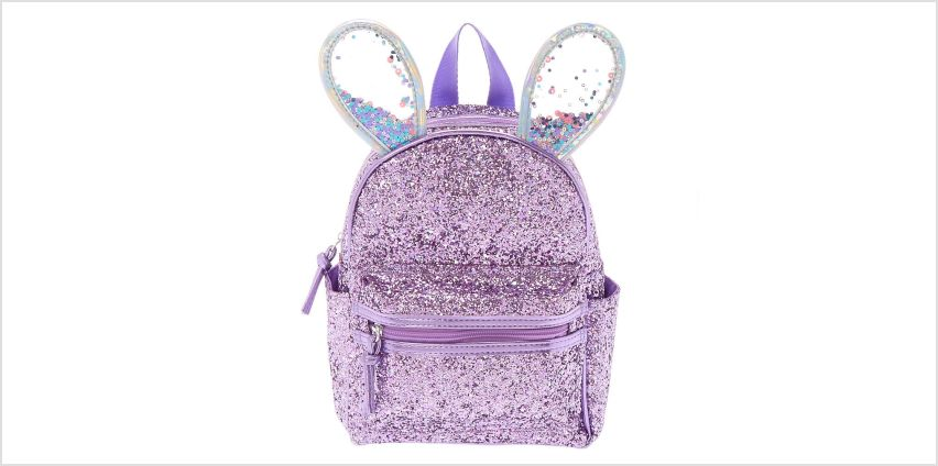 Go to Product: Bella the Bunny Glitter Mini Backpack - Lilac Purple from Claires