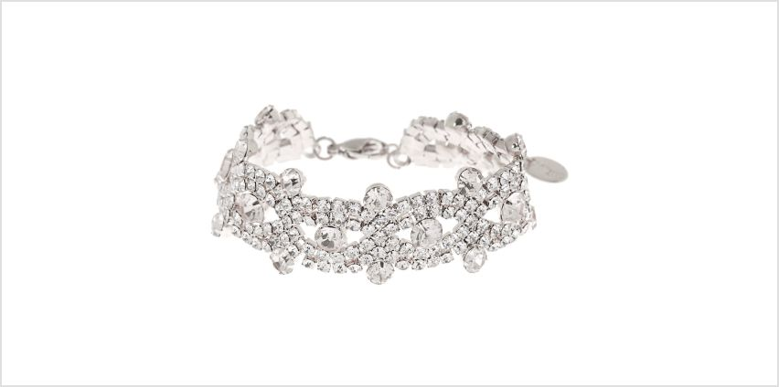 Go to Product: Silver Rhinestone Infinity Chain Bracelet from Claires