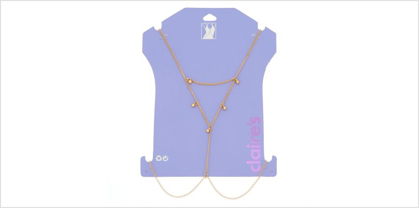 Gold Beaded Body Chain from Claires