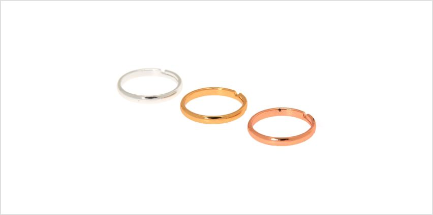 Go to Product: Mixed Metal Classic Band Toe Ring Set - 3 Pack from Claires