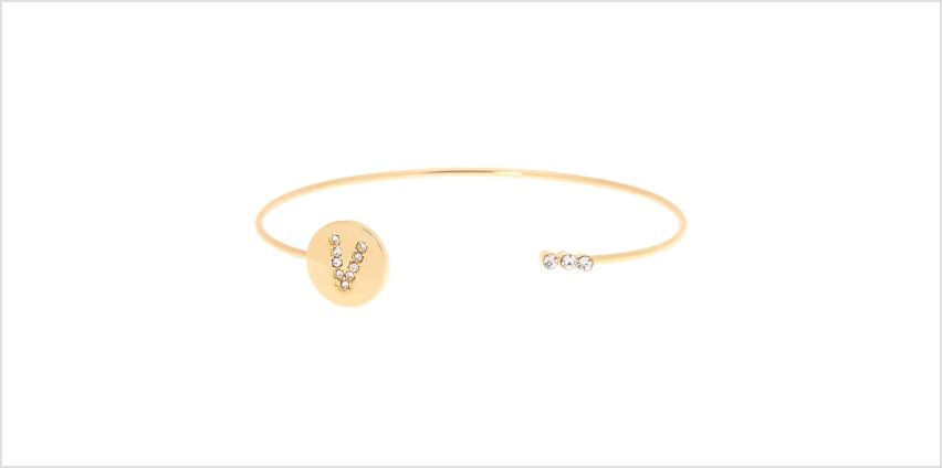 Go to Product: Gold Initial Cuff Bracelet - V from Claires
