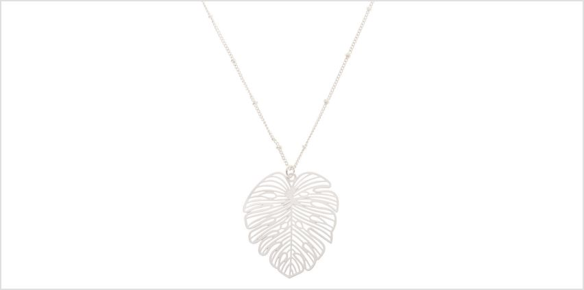 Go to Product: Silver Palm Leaf Long Pendant Necklace from Claires