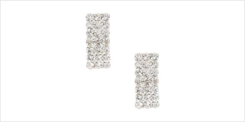 Go to Product: Rectangular Crystal Style Silver Tone Stud Earrings from Claires