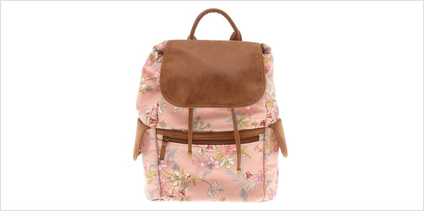 Go to Product: Floral Flap Backpack - Pink from Claires