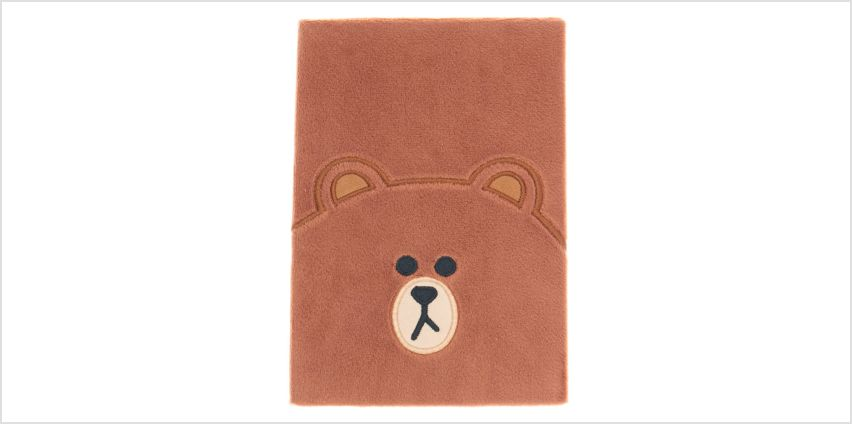Go to Product: LINE FRIENDS© Brown A5 Plush Notebook – Brown from Claires
