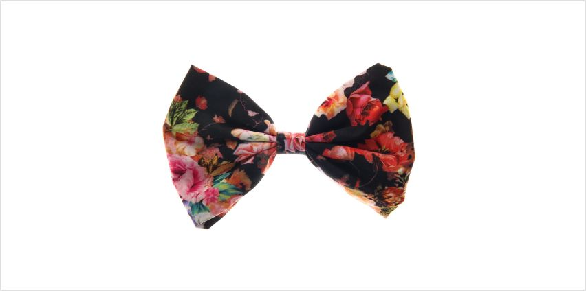 Go to Product: Large Floral Bow Hair Clip from Claires