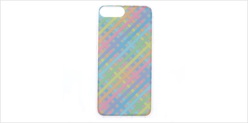 Go to Product: Pastel Chequered Holographic Phone Case - Fits iPhone 6/7/8 from Claires