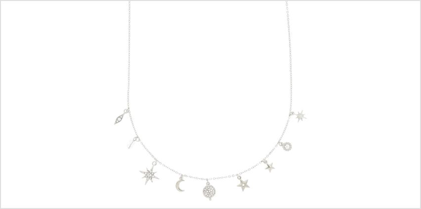 Go to Product: Silver Cosmic Charm Pendant Necklace from Claires