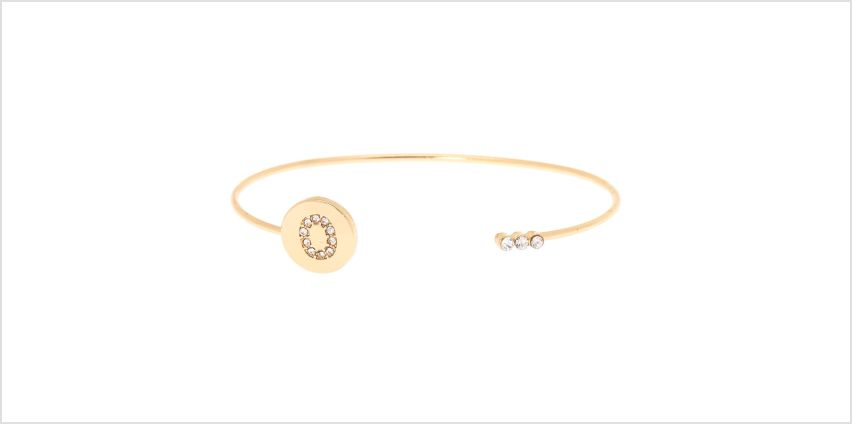 Go to Product: Gold Initial Cuff Bracelet - O from Claires