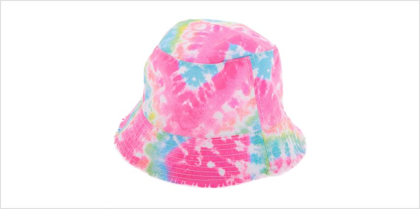 Go to Product: Rainbow Tie-Dye Bucket Hat from Claires
