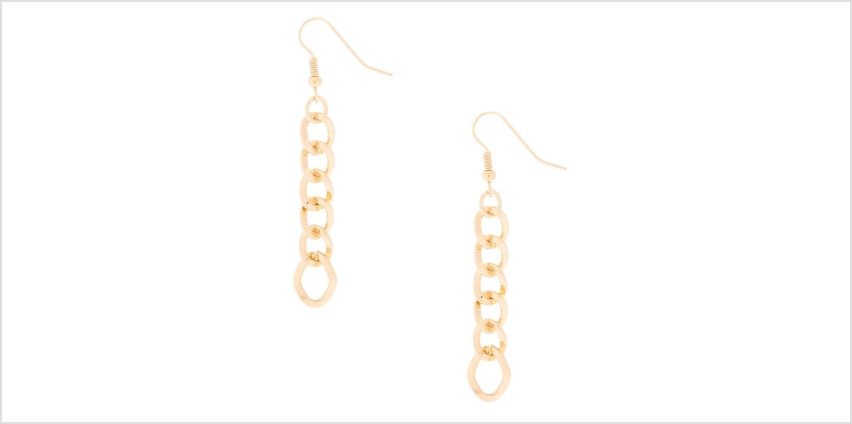 Go to Product: Gold Basic Chain Drop Earrings from Claires