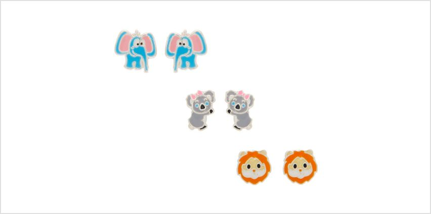 Go to Product: Sterling Silver Zoo Party Stud Earrings - 3 Pack from Claires