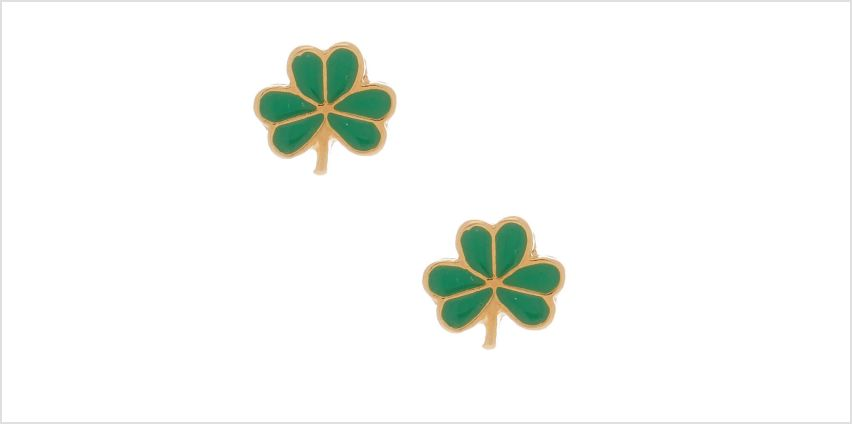 Go to Product: 18kt Gold Plated Shamrock Stud Earrings from Claires