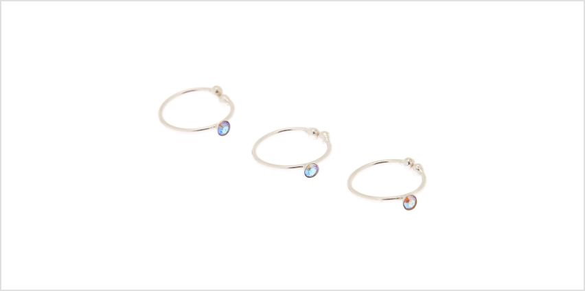 Go to Product: Silver Swarovski® Crystal Faux Nose Ring - 3 Pack from Claires